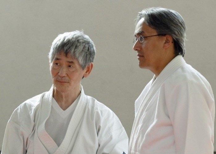 Hubert van Ravensberg (now 6.dan) with Minoru Kanetsuka sensei - Aikido